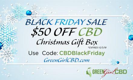 CBD Black Friday Coupon • $50 Off CBD Christmas Gift Box • Coupon Code